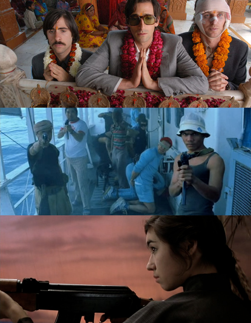The Indian fetishist brothers of The Darjeeling Limited, Filipino pirates in A Life Aquatic, and Margaret Yang as a Vietnamese Viet Cong Soldier in Rushmore