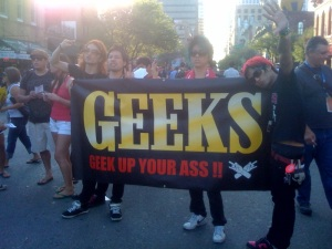 Who wouldn't want a geek up their ass? Duh.