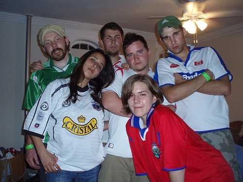 European and South American Soccer Jersey: Cause you don't f'n watch soccer. You just want people to know you went to Munich (take that Bayern Munich jersey off) or Brazil (look at me! I'm wearing a Ronaldinho jersey! Who is he again?).