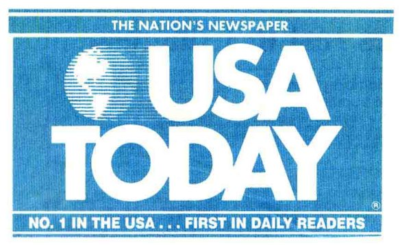 Hmm, I think I'll check out USA Today to see if my favorite baseball team won. Or if a war broke out anywhere.