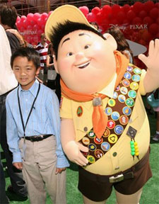 Jordan Nagai and his Animated Counterpart. Click here for Pixar's Up Trailer.