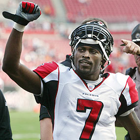 "Michael ""I'd look better in Silver & Black"" Vick"